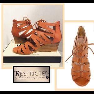 Restricted lace up sandals